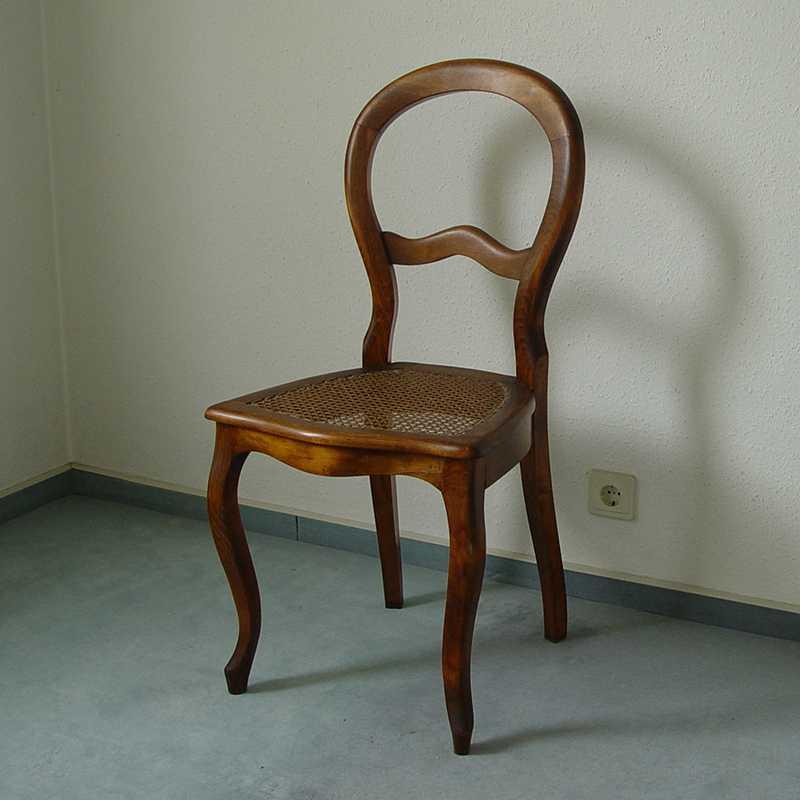 louis philippe stuhl buche geflecht ebay. Black Bedroom Furniture Sets. Home Design Ideas